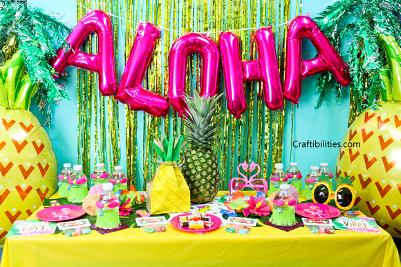 tropical luau party ideas decorations favors treats photo booth