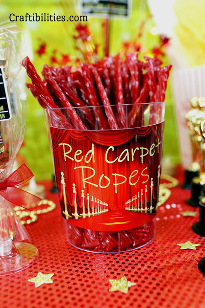 Red Carpet Snacks Sweets Party Treat Ideas Oscars Movie Night Themed Event Hollywood Gold Black