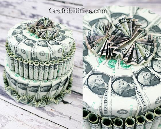 Birthday Gift Idea Diy Money Cake How To Make Tutorial