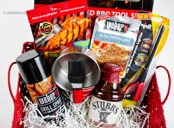 Fathers Day Bbq Gift Basket Personalized