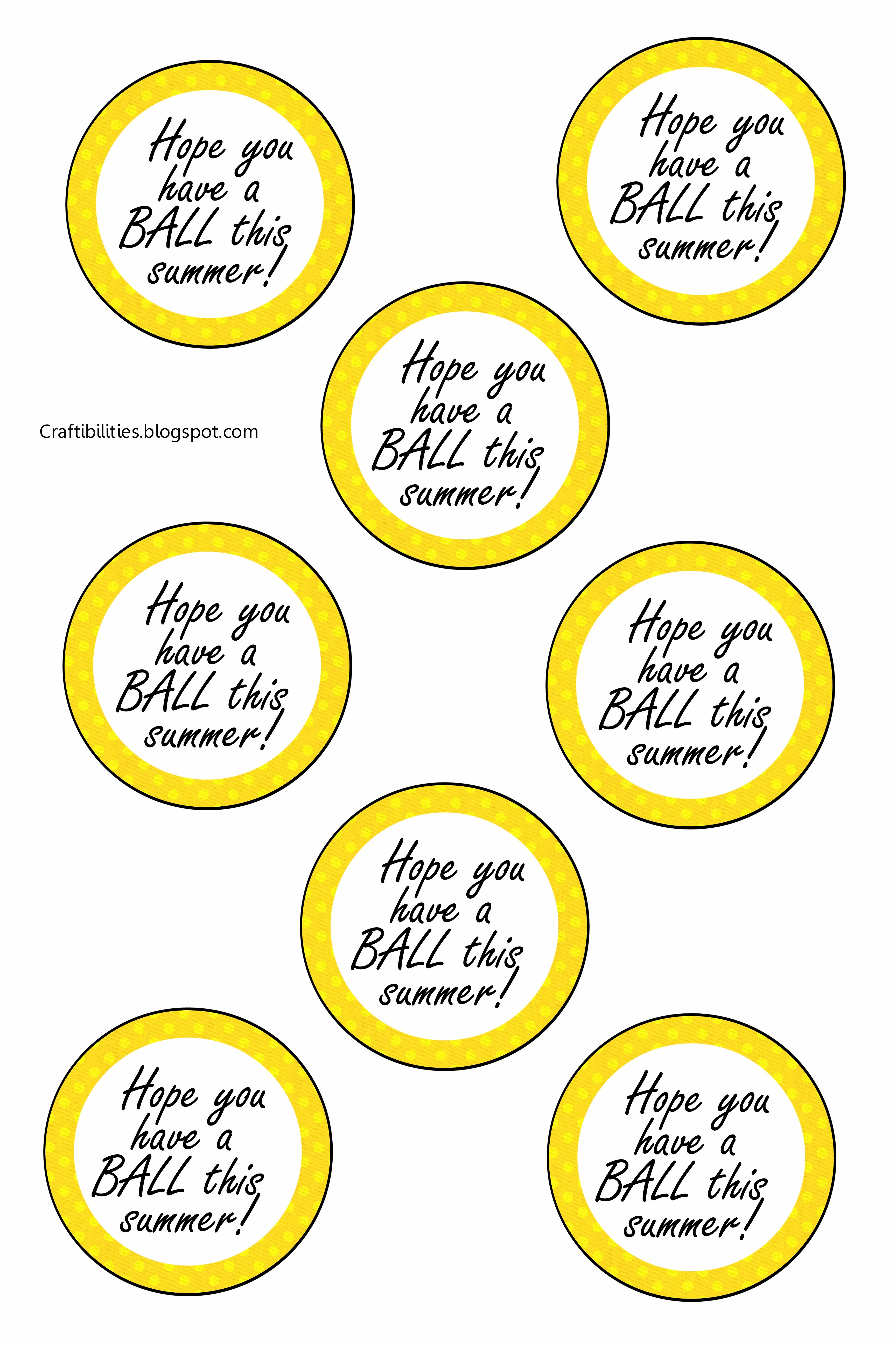 image regarding Have a Ball This Summer Printable named Conclusion OF THE Yr cl reward! Incorporate a BALL this summer time! Absolutely free