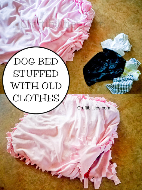 Diy Large Dog Bed Idea Stuffed With Old Clothes No Sew