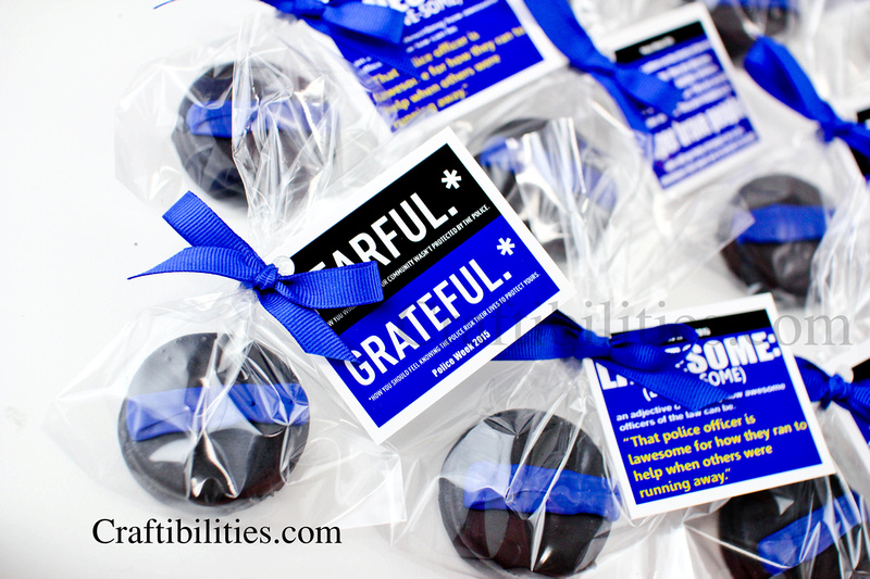2ddcfd3a6689a National Police Week IDEAS - Thank you gift treat - THIN BLUE LINE ...