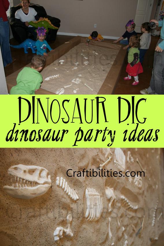 Dinosaur Birthday Party Ideas Diy Dino Dig Giant Fossil Sand Pit