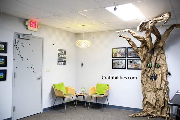 office halloween decorating ideas. So I Don\u0027t Do Cutesy Or Whimsical Halloween Decor EVER....NEVER EVER! Still Didn\u0027t Want Cute But Needed To Think About Clients Walking In. Office Decorating Ideas M