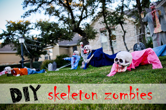 Diy Zombies Halloween Decor Yard Skeletons Easy And Inexpensive How To Make Tutorial Step By Step