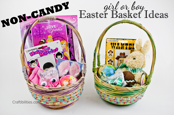 younger kids no candy easter basket ideas for a boy and girl