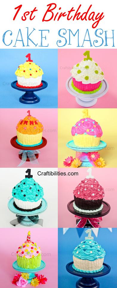 1st Birthday Cake Smash Giant Cupcake How To Tutorial Baking