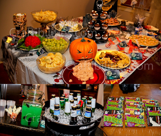 Kids Halloween Party Decor Food Treats Zombie Family