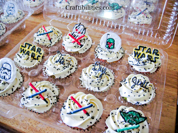 Star Wars Cupcakes Diy Edible Chocolate Art Themed Party Idea Pre Movie Treat